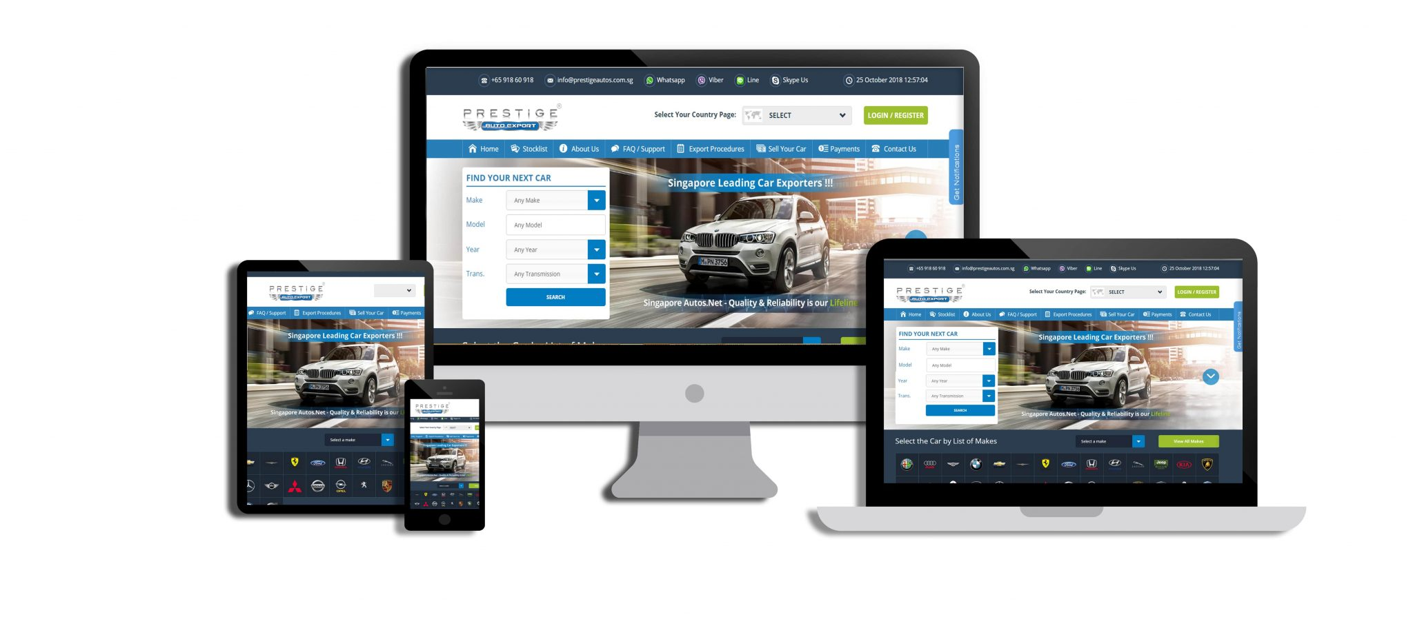 Prestige Auto Export Website - Web Design Adelaide