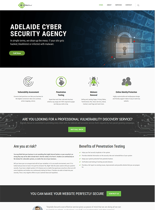 Digitally Secure - Website Design