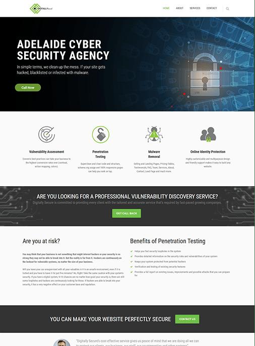 Digitally Secure - Website Design