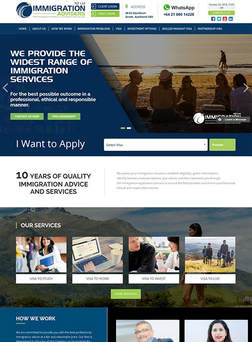 NZ Immigration - Website Design