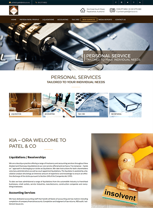 Patel and Co - Web Design Adelaide