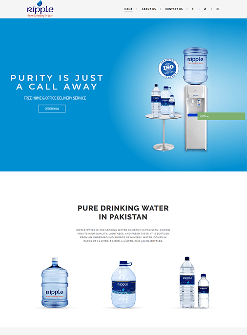 Ripple Water - Website Design