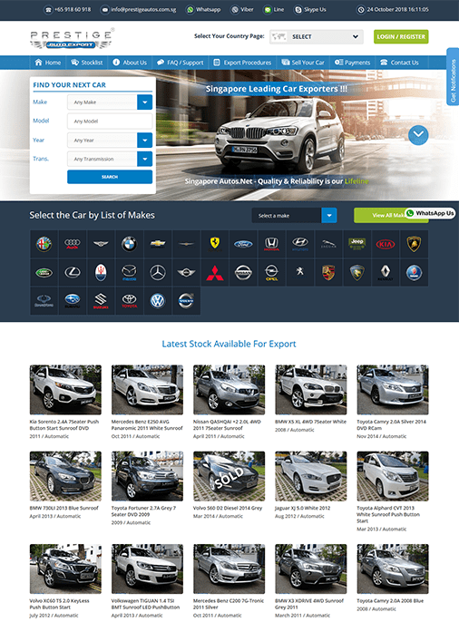 Singapore Autos - Website Design