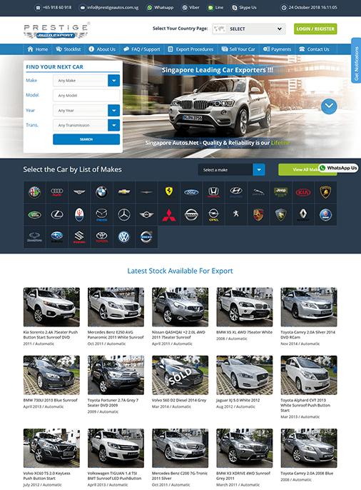 Singapore Autos - Website Design