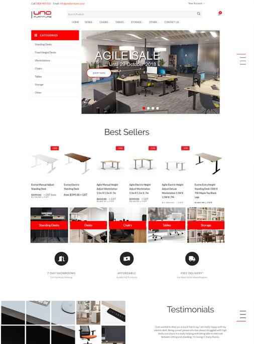 UNO Furniture - Website Design